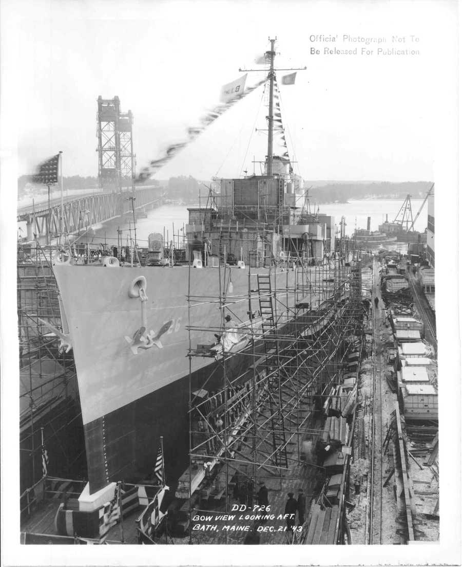 The USS Meredith was delivered to the Navy on Feb. 14, 1944