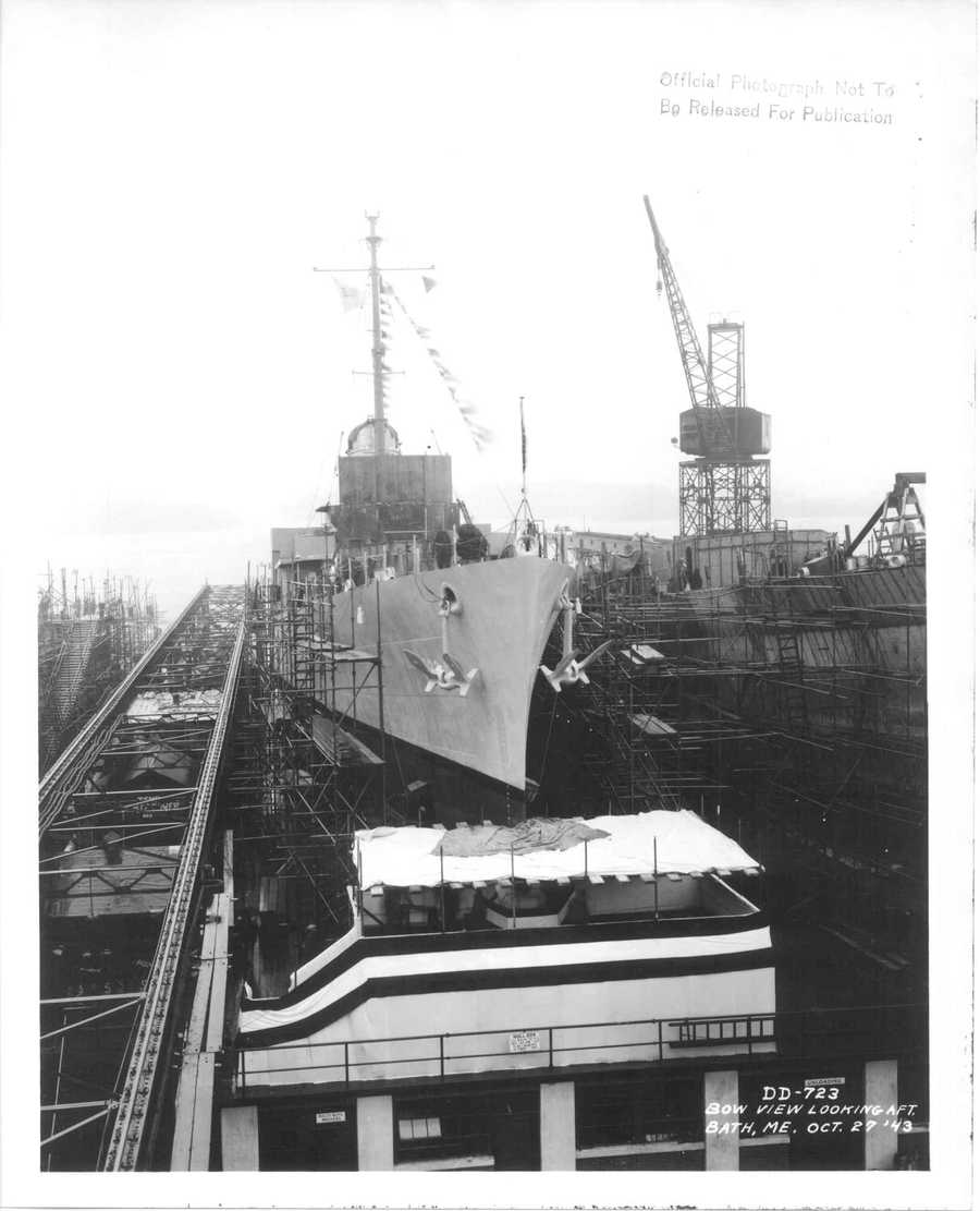 The USS Walke was delivered to the Navy on Jan. 21, 1944