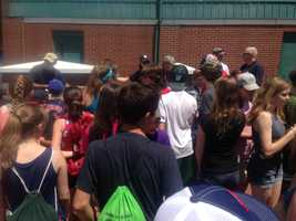 Sunday was WMTW day at Hadlock Field as the Portland Sea Dogs took on the Bowie Baysox.