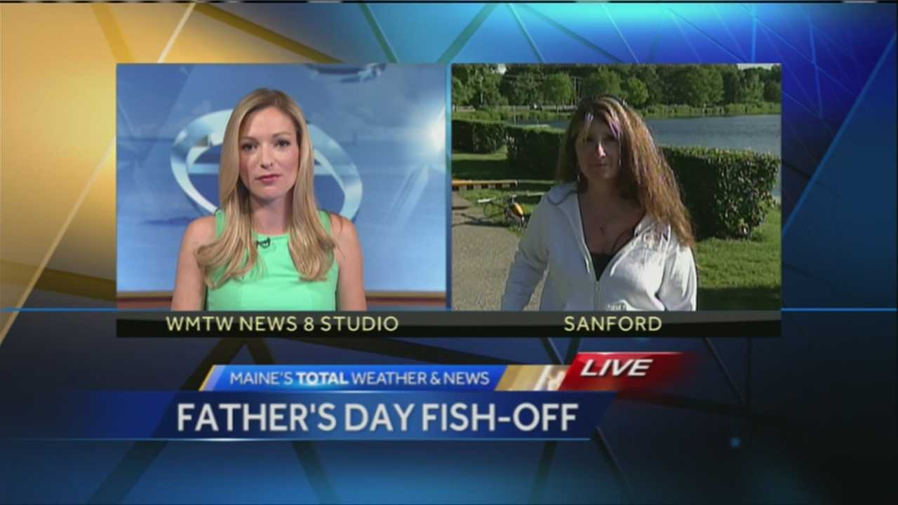 WMTW News 8's Katie Thompson speaks with Fran Libby of the Sanford Elks about the third annual Father's Day Fish-off fishing derby and radio-controlled plane demonstration.