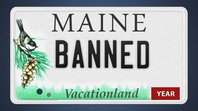 The Maine Secretary of State's Office has a list of thousands of license plate combinations that are banned. Click through to see a sampling of banned plates. Combinations that spell out obscenities were omitted.