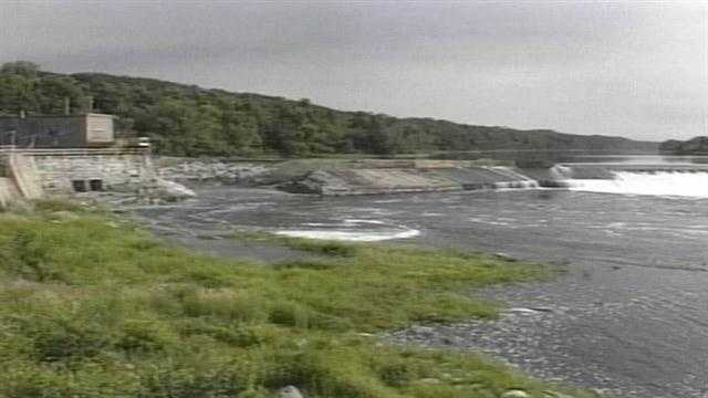 The dam was built in 1837, first to power a lumber mill and later to provide electricity.