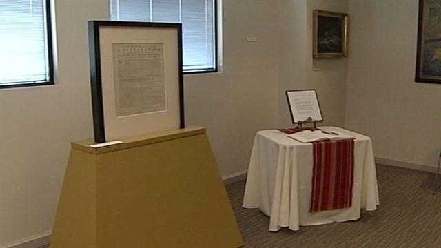 The Maine Historical Society is giving the public a chance to see its original Dunlap Broadside copy of the Declaration.