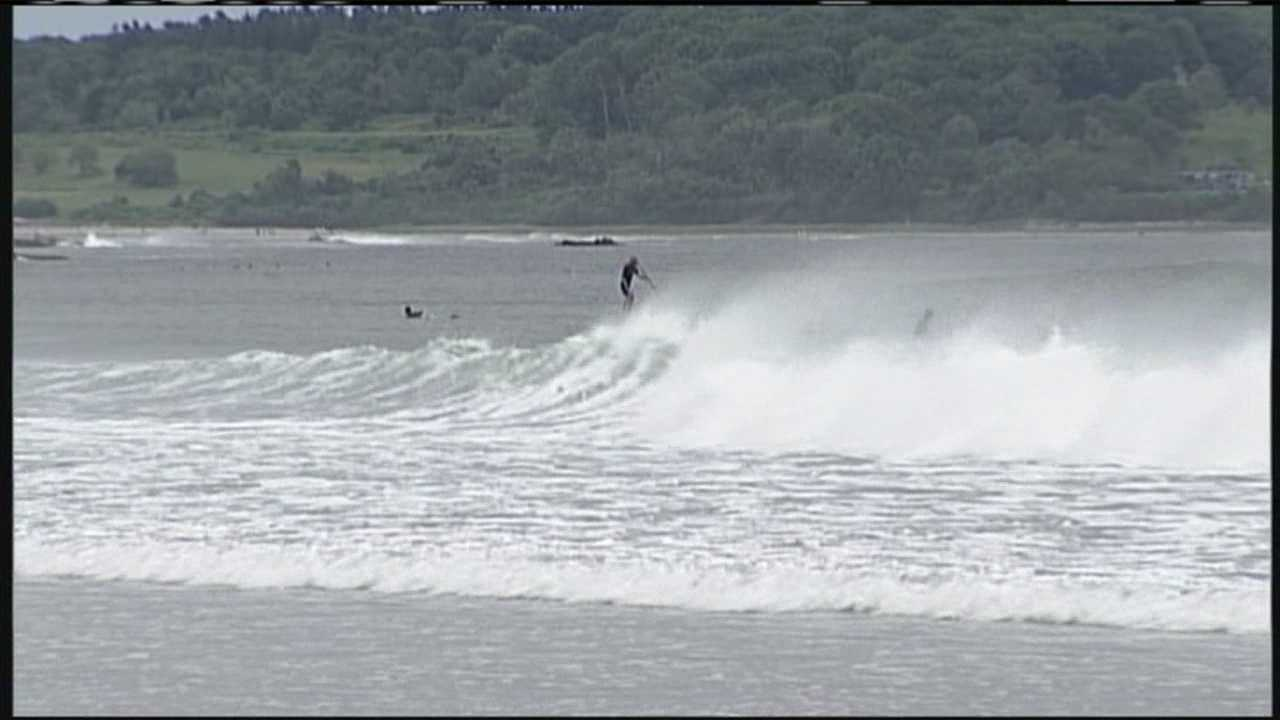 Surfers urged to use caution at Maine beaches.