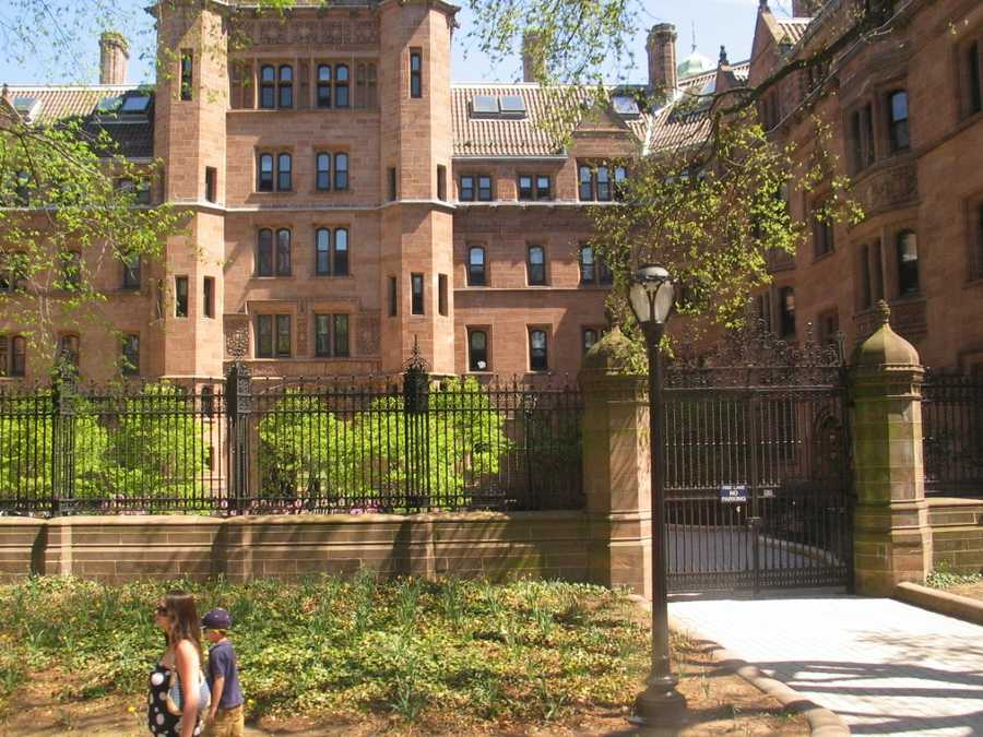 #23 Yale University.  Tuition and fees totaled $42,300 for the 2012-13 school year, according the the U.S. Department of Education.