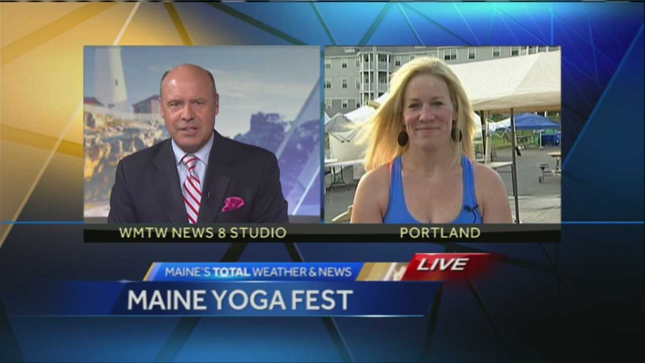 The Maine Yoga Festival is celebrating it's second year and organizers are expecting at least 500 participants. WMTW News 8's Norm Karkos spoke with the festivals organizers about what participants can expect at the festival.