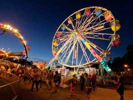 The midway is one of the largest in the state.