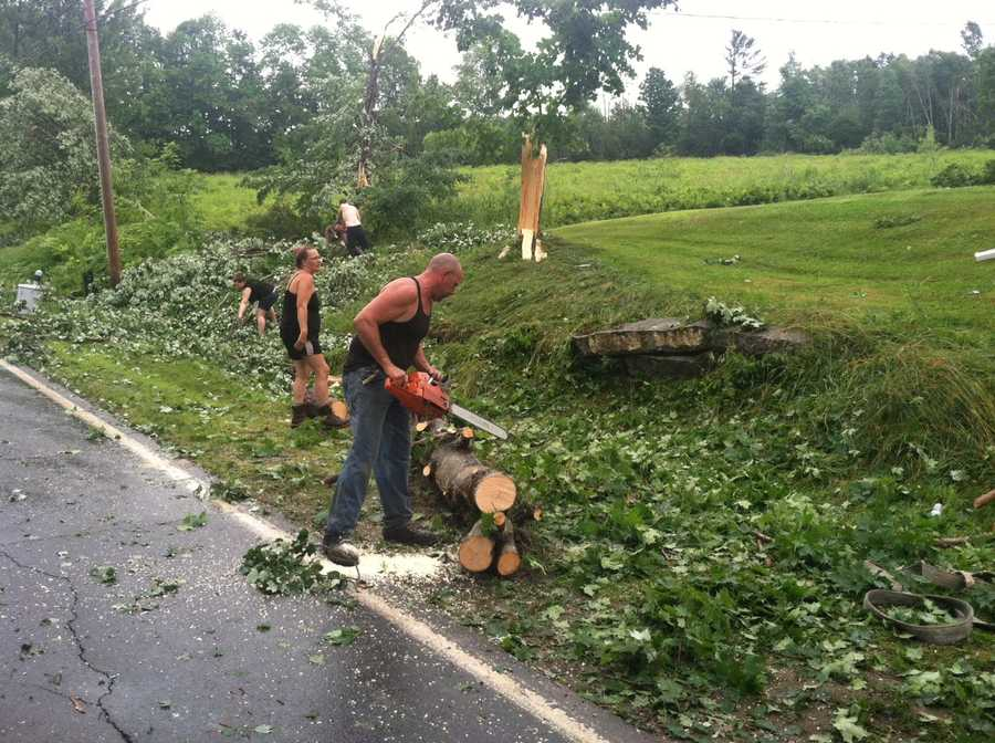 The cleanup in St. Albans on Wednesday