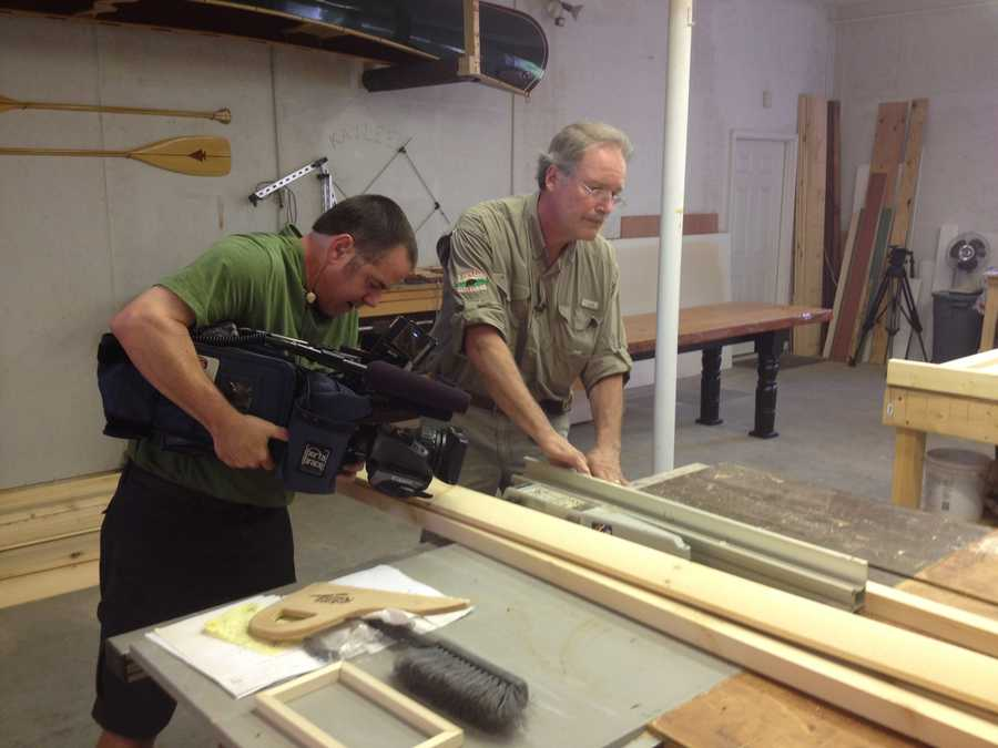 Most of the work to create the cabins happens inside Diebolt's workshop in Sanford.