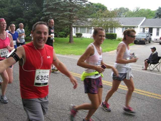 WMTW News 8 Meteorologist Matt Zidle ran in the Beach to Beacon on Saturday