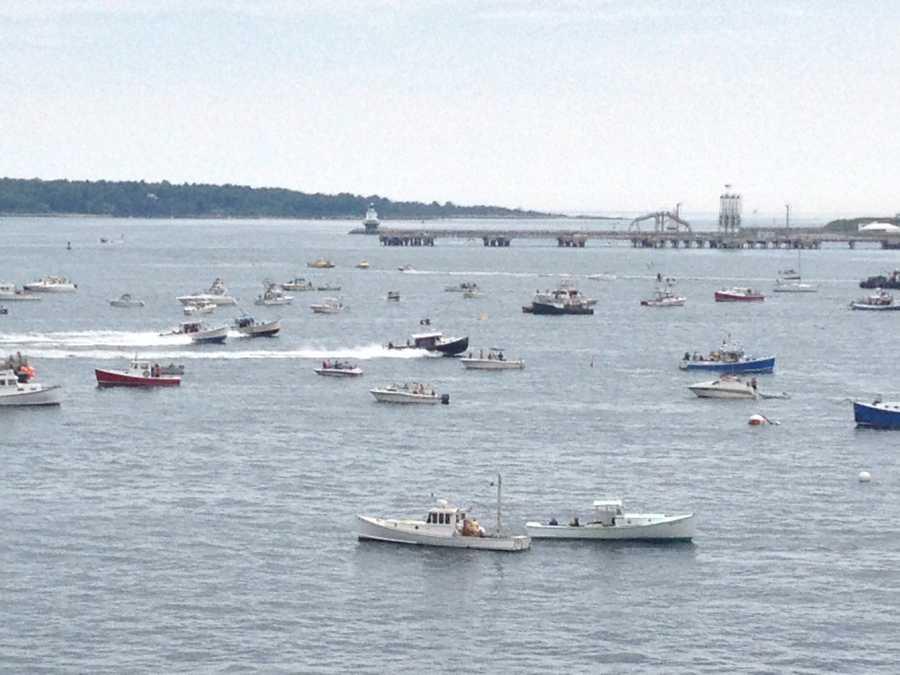 Watch a lobster boat race