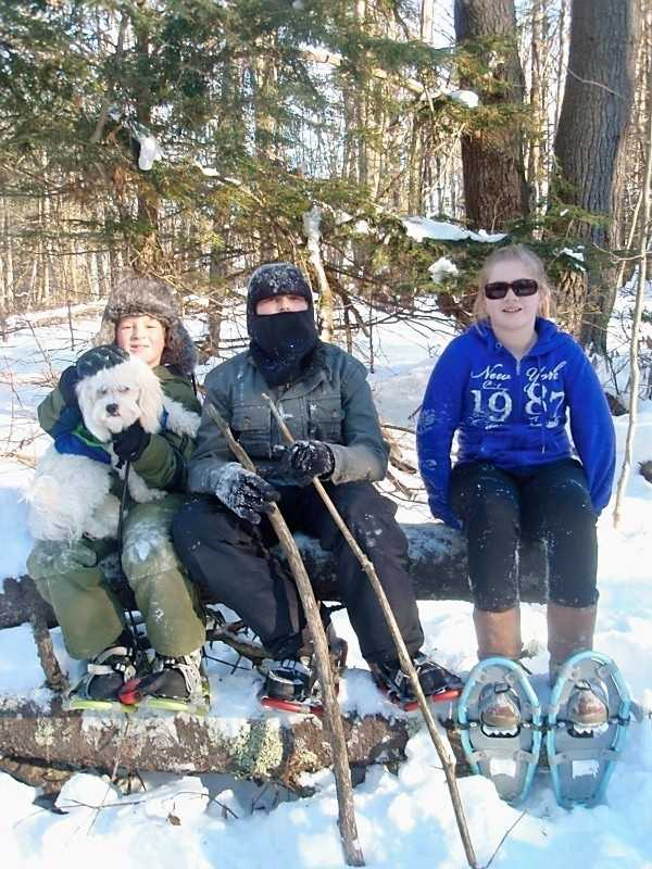 Try your hand a snowshoeing