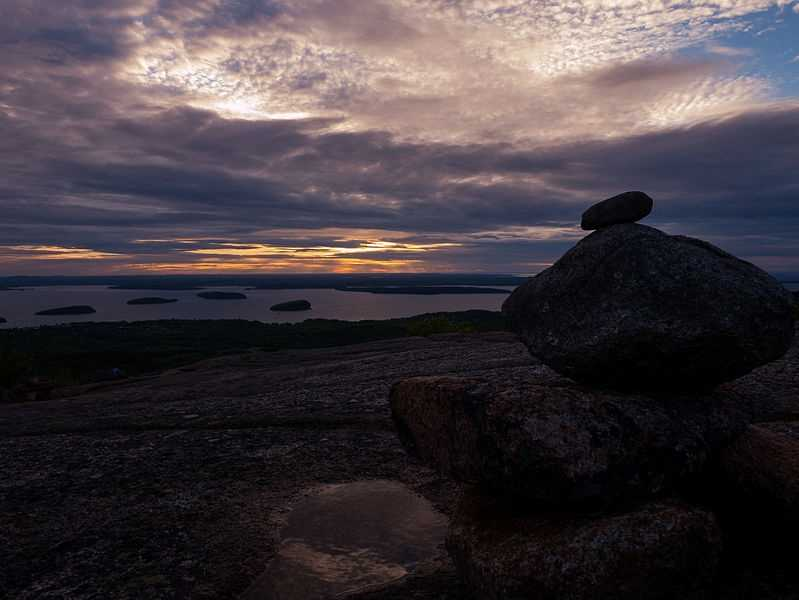 Watch the sunrise from Cadillac Mountain