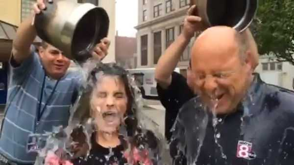 Meghan Torjussen and Norm Karkos took the #IceBucketChallenge after being challenged by Matt Zidle.