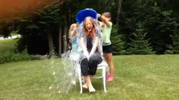 Roger Griswold challenged Mallory Brooke to the #IceBucketChallenge