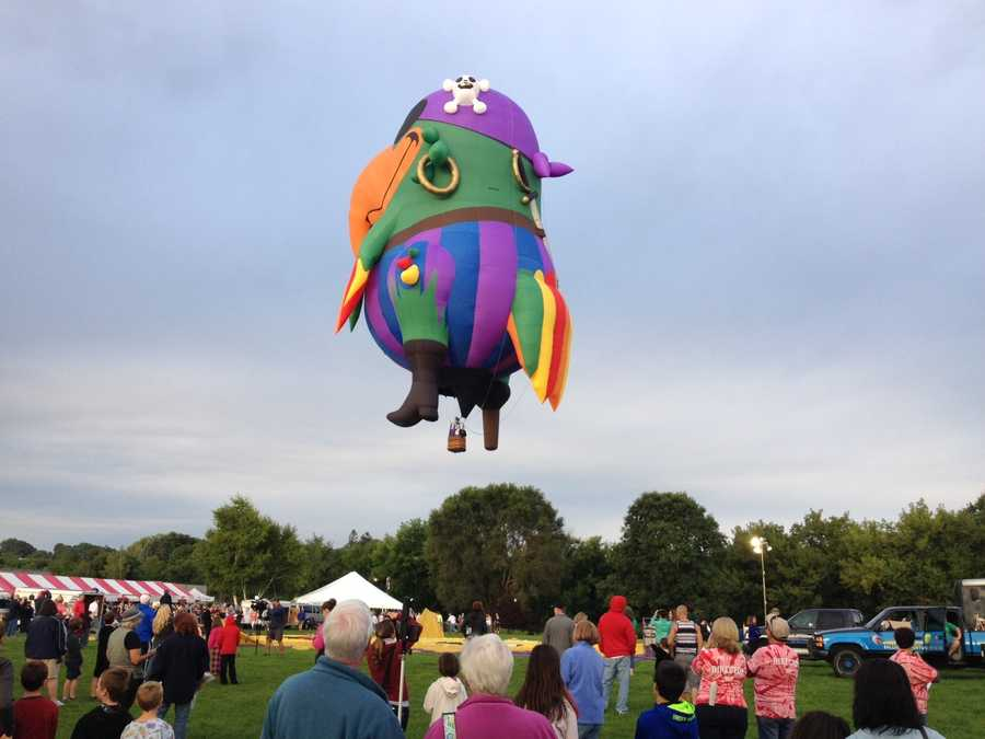 """""""Peg Leg Pete"""" takes off from the Great Falls Balloon Festival"""