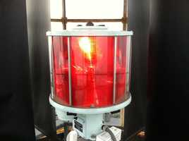 The Coast Guard maintains the foghorn that blasts every 30 seconds, and the light that burns a constant red.
