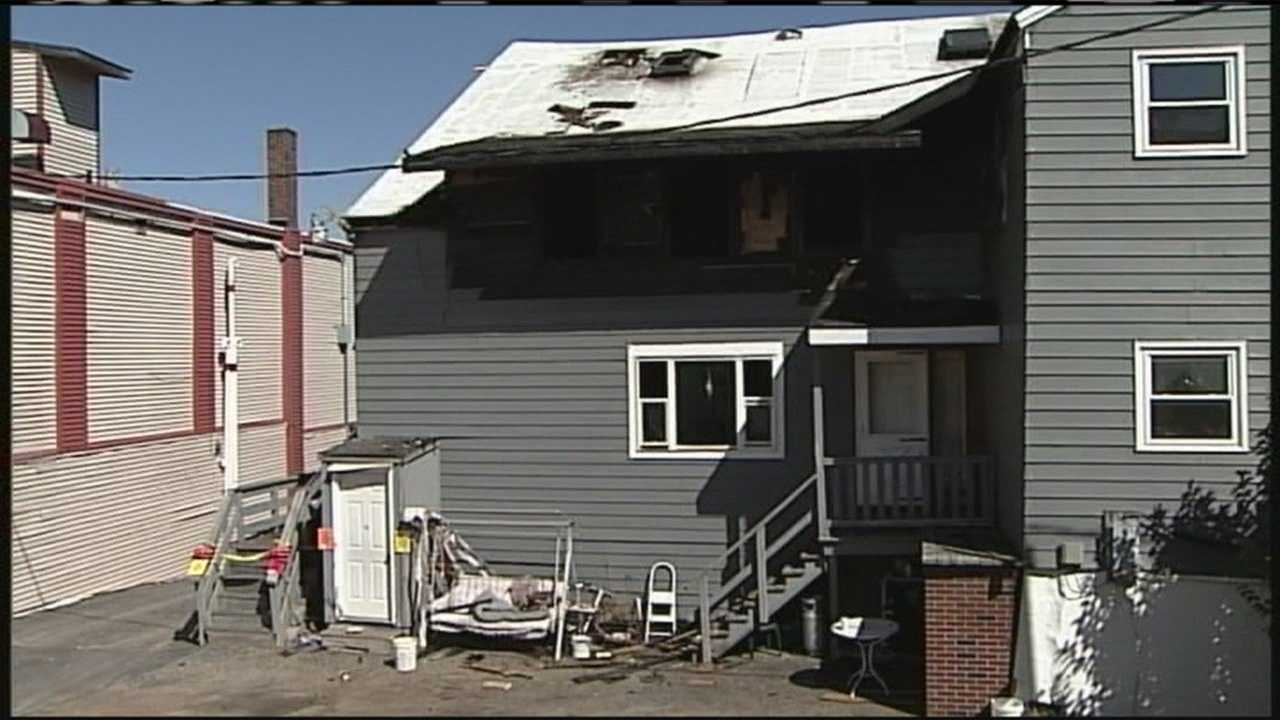 One day after serious fire injured 8 people, two critically, tenants returned to the building to try and pick up the pieces.WMTW News 8's Jim Keithley reports.