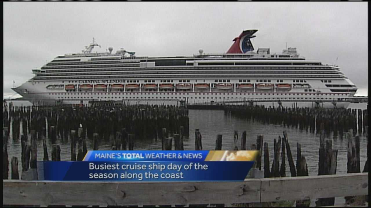 Tuesday is considered the busiest day of cruise ship season in Maine.