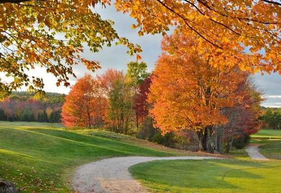 Enjoy a final few rounds of golf before the snow flies and enjoy the foliage at the same time.