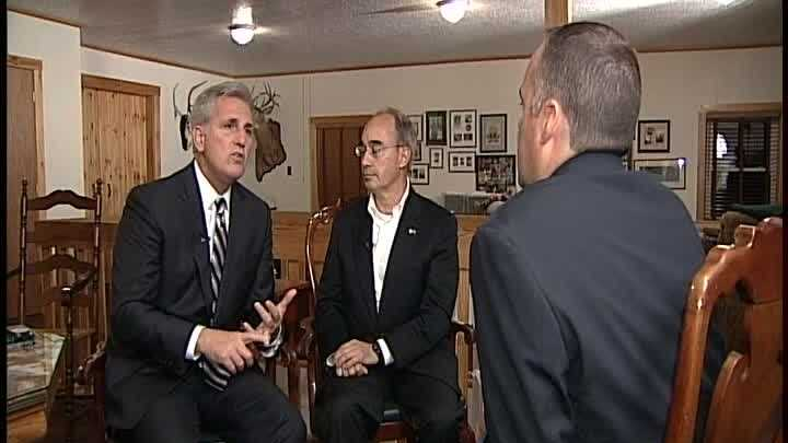 The fierce fight for Maine's second congressional district drew a political heavy-hitter to Maine Sunday night. House Majority Leader Kevin McCarthy attending a Norway fundraiser for Bruce Poliquin. McCarthy did one interview while he was here in Maine. WMTW News 8 political reporter Paul Merrill has the exclusive.