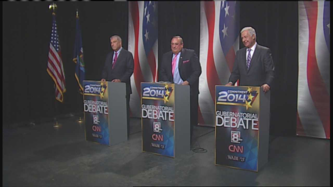 The three candidates running for governor took part in the final televised debate Tuesday night. Watch the debate in its entirety.