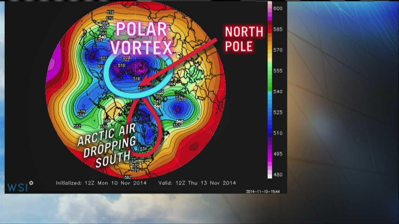 WMTW News 8 Chief Meteorologist Roger Griswold explains why the blast of cold air headed our way later this week is not the polar vortex.