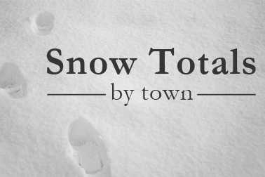 Most of us woke up to a fresh coating of snow Friday morning. See who got the most snow from the storm, according to the National Weather Service. The towns are listed in alphabetical order.