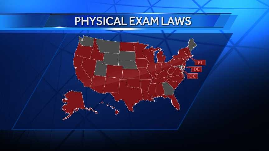 42 states require a physical exam before prescribing controlled substances.