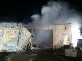 The fire happened earlier this morning at 386 Willie Hill Road, that is also the Wells transfer station.