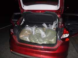1: Auburn police say they arrested a man who had more than 40 pounds of pot in the trunk of his car. Click here for the story.