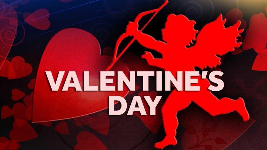 Feb. 14: Valentine's Day falls on a Saturday.