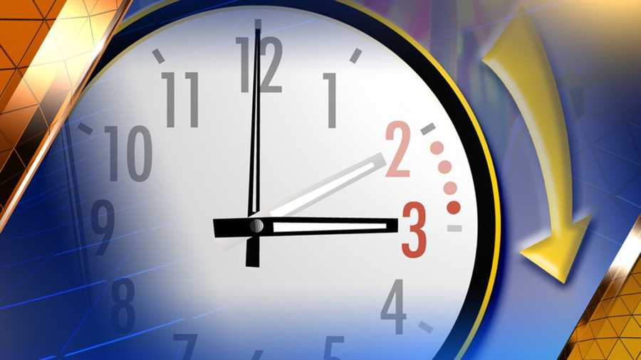 March 8: Spring forward -- Daylight Saving Time begins.