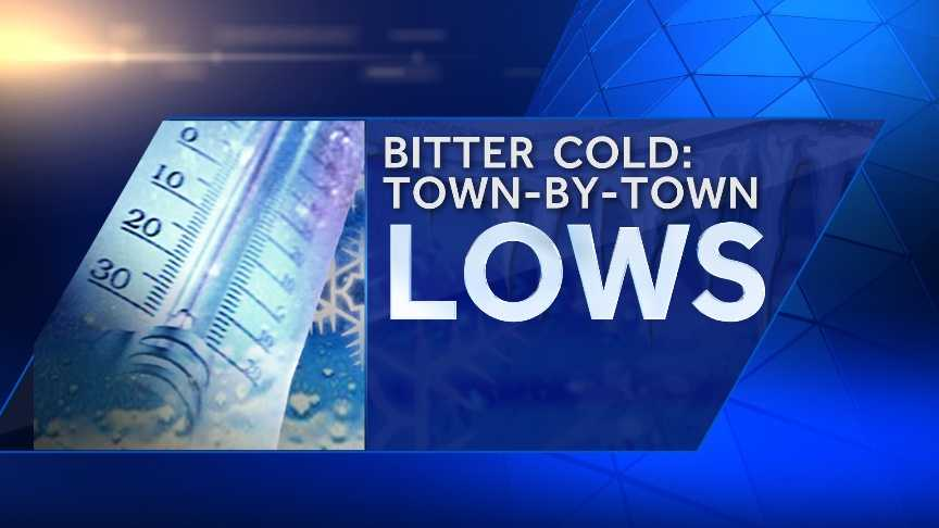 How cold was it this morning where you live? Most of us saw temperatures well below zero. Take a look at some of the coldest lows from across the state. Communities are listed in alphabetical order.