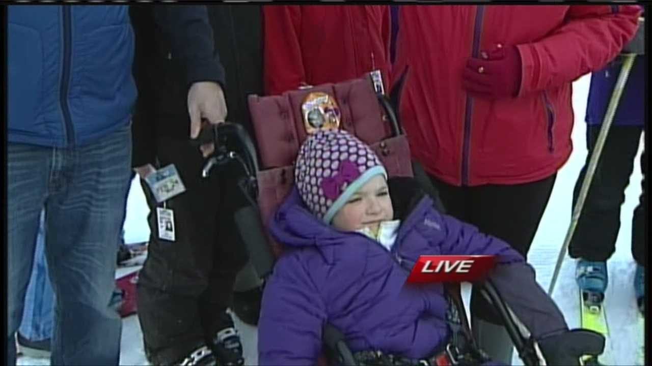 Skiiers at King Pine Ski Resort are skiing and raising money to help a little girl battling a disorder that affects 1 in 10,000 girls. WMTW News 8's Morgan Sturdivant has more from New Hampshire.