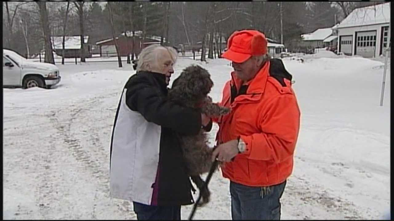 Only WMTW News 8 was there Thursday when a Cumberland woman received a phone call from her missing husband.