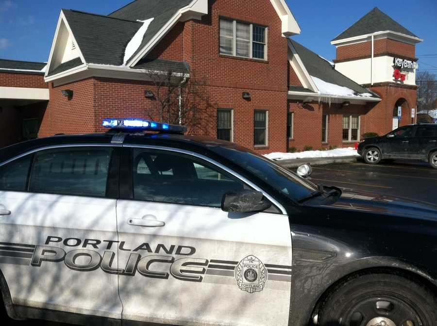 Police say the Key Bank on Forest Avenue was robbed at 11:05 a.m.