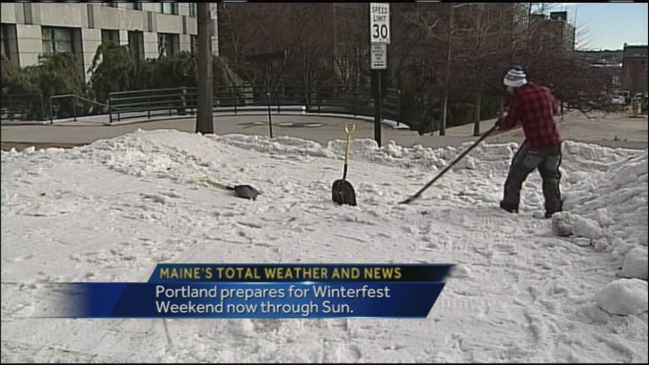 Many head to the mountains in the winter but this weekend, the city of Portland is out to prove you can have winter fun downtown. WMTW News 8's Morgan Sturdivant has more on the first Winterfest Weekend in Portland.
