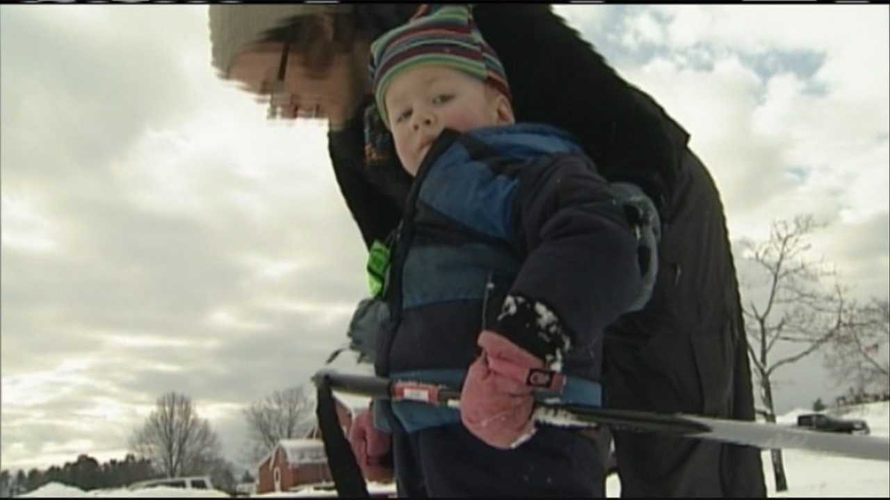 Saturday's snow meant money for businesses and new memories for some getting outside.