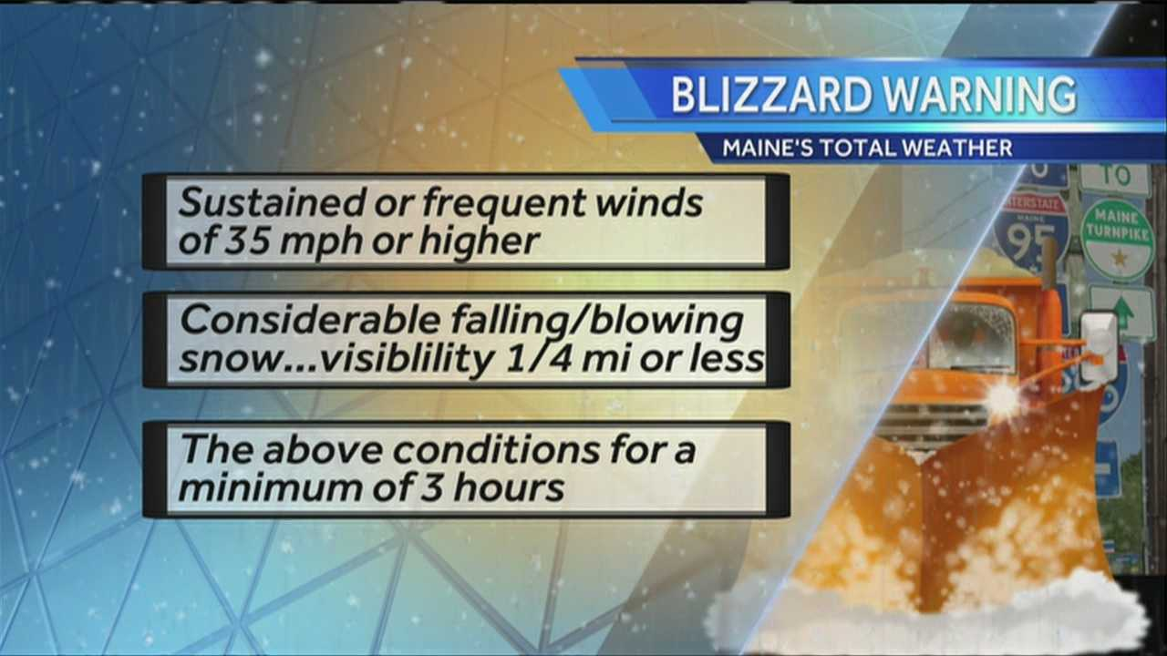 Do you know the difference between a blizzard and a typical winter storm? Meteorologist Matt Zidle explains.