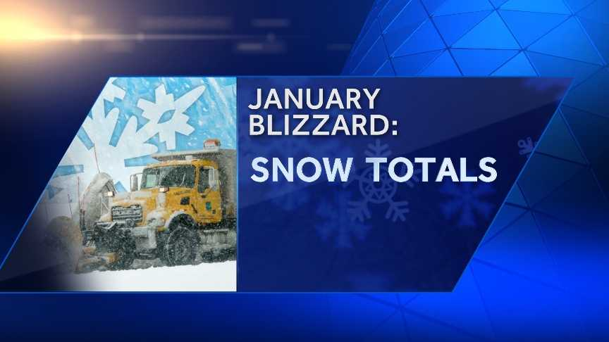The January blizzard dumped more than 2 feet of snow across much of the area. Check out town-by-town snowfall totals. The towns are listed alphabetically.