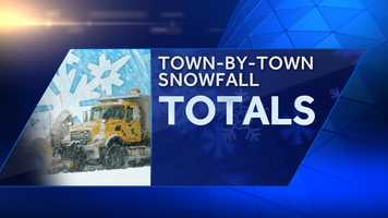 The snowfall totals are in for Monday's storm. Check out our town-by-town totals to see who got the most snow. The towns are listed alphabetically.