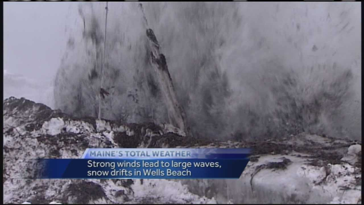 The high winds didn't let up Sunday in Wells as a blizzard made its way through town.