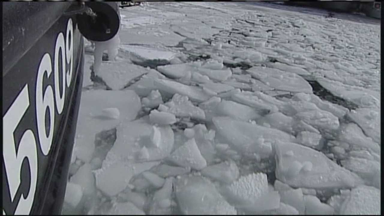 The recent string of cold weather has turned many Maine waterways into sheets of ice, so it's up to the coast guard station to keep the waters passable.