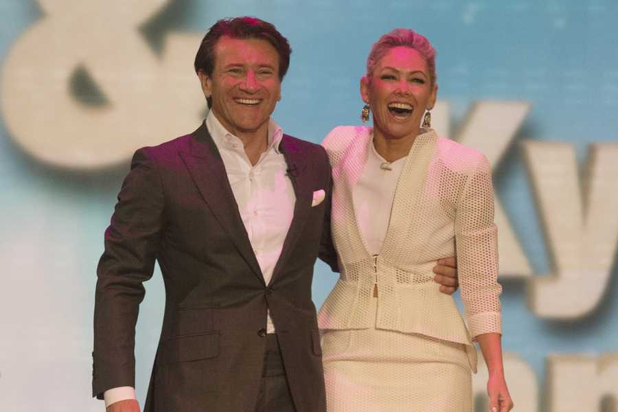 Investor Robert Herjavec with Kym Johnson