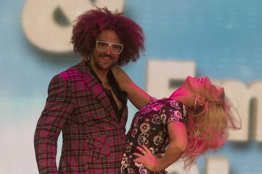 DJ, singer RedFoo with Emma Slater