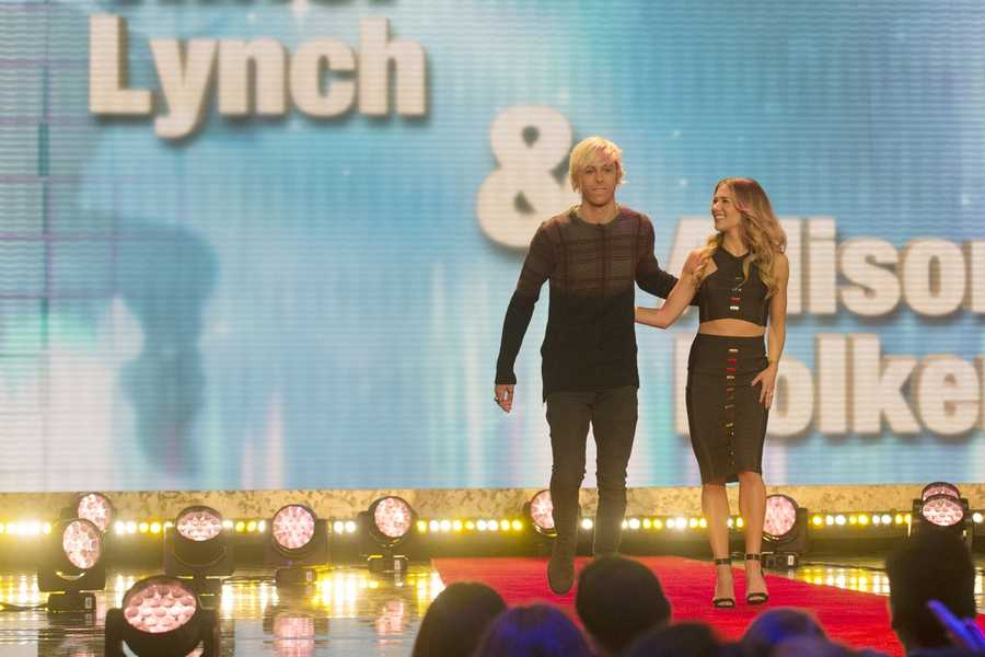 Singer Riker Lynch, of R5 is teamed up with Allison Holker.