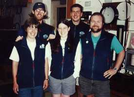 My first crew! Lynne Host (left) and Mark RossParent (right) were the full time staff, the rest of us, including Alex & Chad in the back, were summer interns. We were in charge of helping the Observers, volunteers, museum staff, giving tours. Anything they needed!