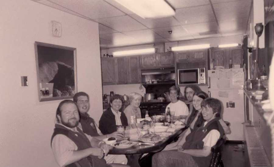 With our crew, plus the volunteer cook, museum attendant and researcher at the table, this is the first time (we believe) that there were more women than men at the Observatory dinner table. History in the making!