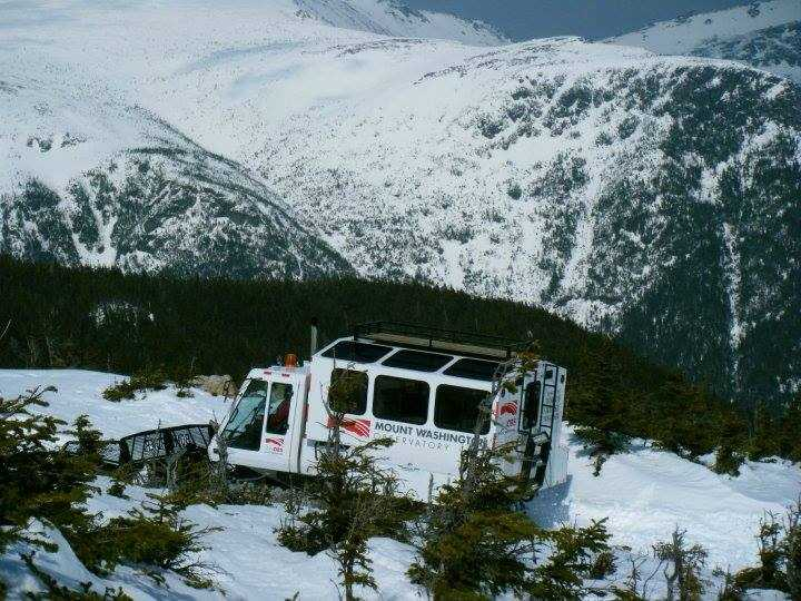 The newest Observatory snowcat. What a change from bench seats and no heat!